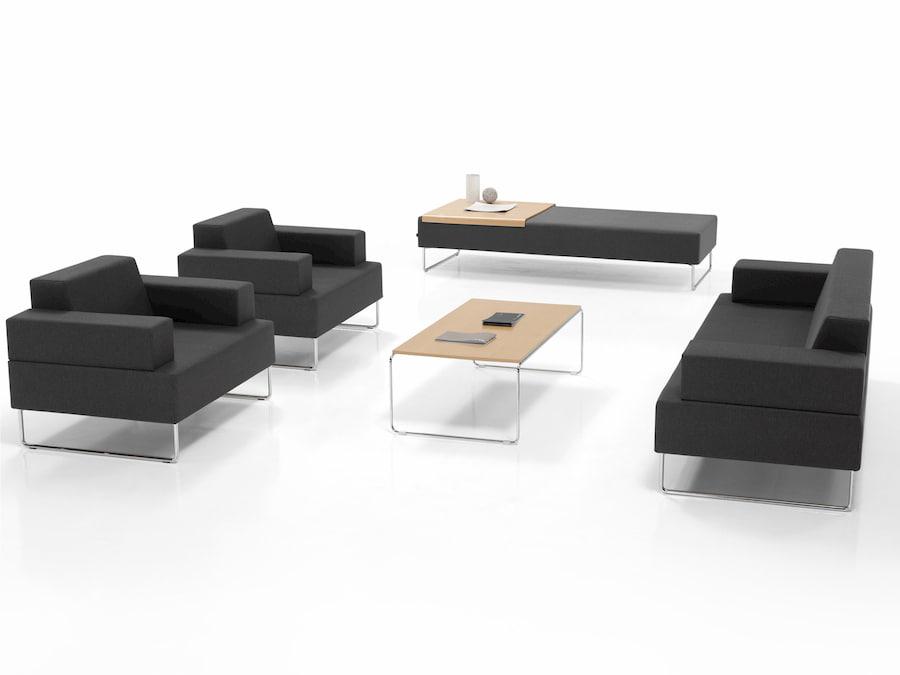 Sillones De Espera Para Oficina.Muebles De Recepcion Mostradores Sillones Y Bancadas Mobiliar